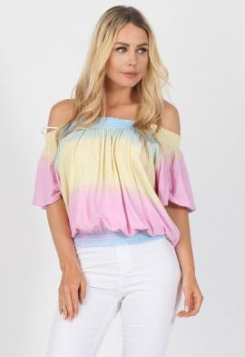 ef4dccdcc516f6 Quick View · Rainbow Gypsy Bardot Top. Rainbow Gypsy Top