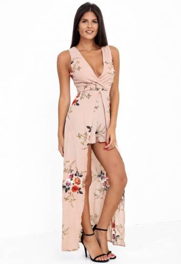 5342c71c8dbc Quick View · Floral Tie Back Maxi Dress ...