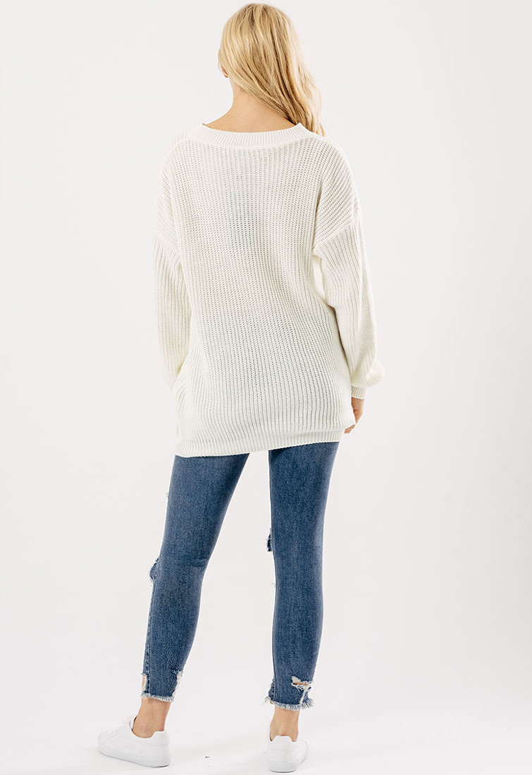 Women's Long Sleeve Oversized Loose Knitted Sweater Jumper Cardigan Outwear Coat. International Buyers Please Note: Import duties, taxes and charges are not included in the itemprice or shipping charges. These charges are the buyer responsibility.