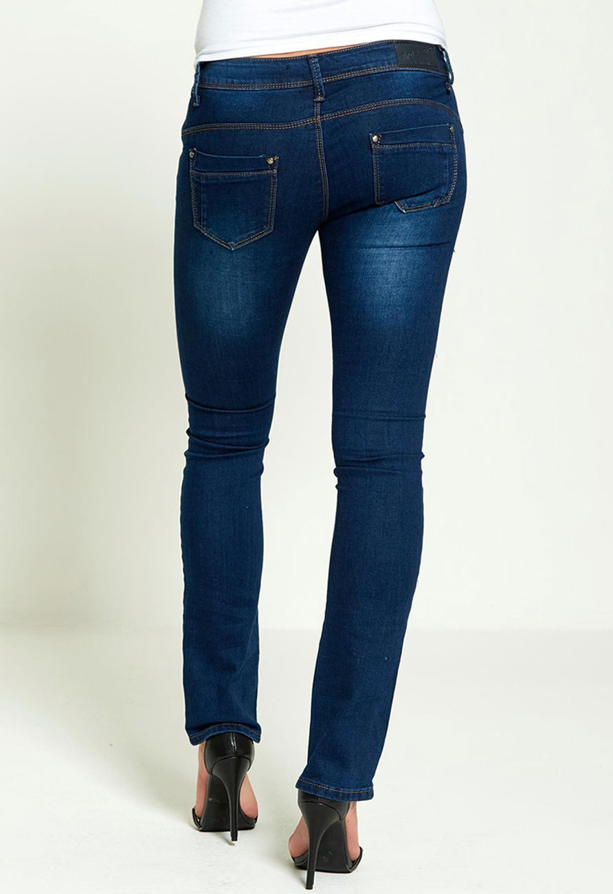Denim Boot Cut Skinny Jeans